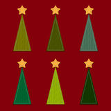 Vector Christmas Trees. Vector Christmas Background with Trees Stock Photo