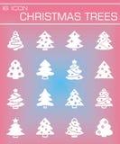 Vector Christmas trees icon set Stock Photography