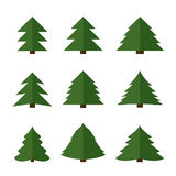 Vector christmas trees Royalty Free Stock Images