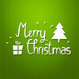 Vector christmas typography poster. New year card Royalty Free Illustration