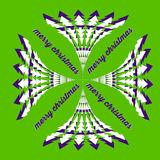 Vector christmas vivid green greeting card Royalty Free Stock Images