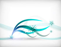 Vector Christmas wave lines lights winter cards Stock Photos