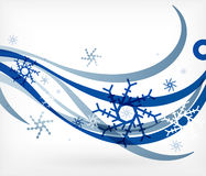 Vector Christmas wave lines lights winter cards Stock Image
