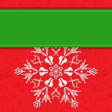 Vector Christmas White Snowflake Royalty Free Stock Images