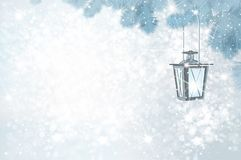 Vector Christmas winter background. royalty free illustration