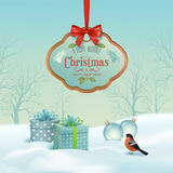 Vector Christmas Winter Landscape Stock Images
