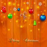 Vector Christmas wooden boards background Royalty Free Stock Photos