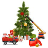 Vector Christmas Workshop Royalty Free Stock Images