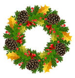 Vector christmas wreath Royalty Free Stock Photos