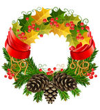 Vector christmas wreath Royalty Free Stock Photo