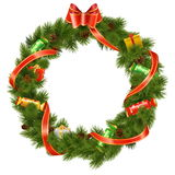 Vector Christmas Wreath with Candy Royalty Free Stock Photos