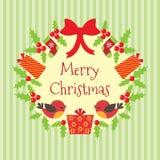 Vector Christmas wreath Stock Image