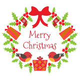Vector Christmas wreath Royalty Free Stock Images