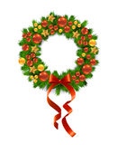 Vector Christmas Wreath Stock Images