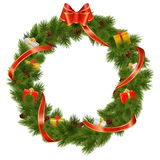 Vector Christmas Wreath with Gifts Stock Photos