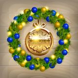 Vector Christmas wreath Royalty Free Stock Photography
