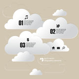 Vector chrome cloud infographics background Royalty Free Stock Images