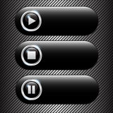 Vector chrome dark buttons Stock Image