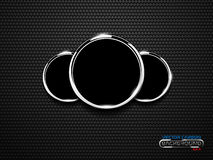 Vector chrome ring speedometer on carbon surface Royalty Free Stock Photos