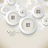 Vector chrome rings and gears infographics background Royalty Free Stock Photos