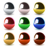 Vector chrome spheres Royalty Free Stock Photography