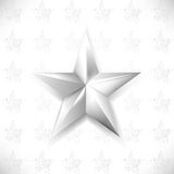 Vector chrome star element background Stock Photography