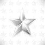 Vector chrome star element background. Eps10 vector chrome star element background Stock Photography