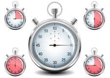 Vector Chrome Stopwatch. Stock Photo