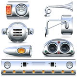 Vector Chromed Truck Parts Set 3 Stock Image