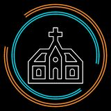 Vector church building. church architecture icon royalty free illustration