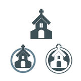 Vector church building icons set Stock Photo