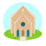 Vector church icon Royalty Free Stock Image