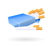 Vector cigarettes pack Stock Photos