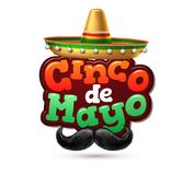Vector cinco de mayo mexican party poster banner. 3d cinco de mayo party poster template. Festival traditional mexican holiday celebration design with realistic Royalty Free Stock Photo