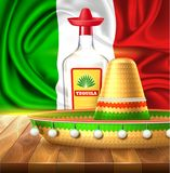 Vector cinco de mayo mexican party poster banner. 3d cinco de mayo party poster template. Festival traditional mexican holiday celebration design with realistic Stock Photos