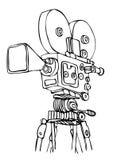 Vector cine camera Royalty Free Stock Photo
