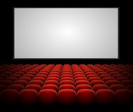 Vector cinema auditorium with blank screen Stock Image