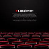 Vector cinema auditorium with seats. Vector illustration vector illustration