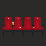 Vector cinema chairs in flat style Royalty Free Stock Photography