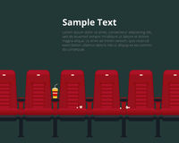 Vector cinema chairs poster with sample text Stock Images