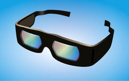 Vector Dolby 3D cinema glasses Stock Photos