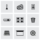 Vector Cinema icon set Royalty Free Stock Image