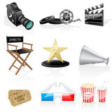 Vector cinema icons Royalty Free Stock Images