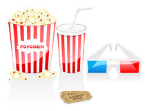 Vector cinema icons Royalty Free Stock Photography