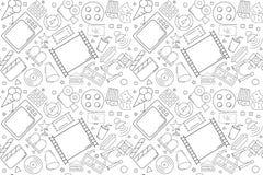 Vector cinema pattern. Cinema seamless background. Vector illustration Royalty Free Stock Photos