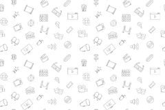 Vector cinema pattern. Cinema seamless background. Vector illustration Royalty Free Stock Images
