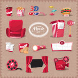 Vector cinema retro style Stock Photos