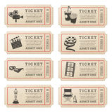 Vector Cinema tickets Royalty Free Stock Photos