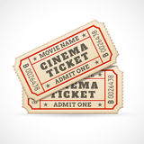 Vector Cinema tickets Royalty Free Stock Image