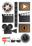 Vector cinematography objects Stock Photography